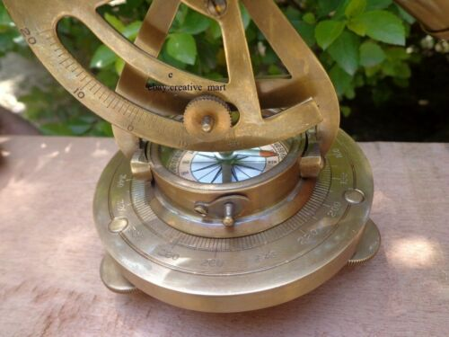 "5/"" ALIDADE COMPASS Brass Theodolite NAVIGATION Ship Survey INSTRUMENT GIFT"