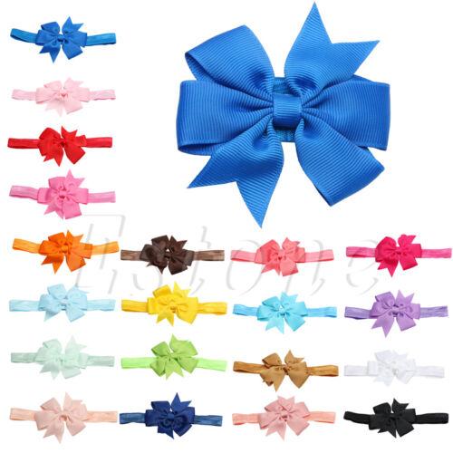 1//5//10 PCs Newborn Toddler Girl Vintage Baby Headband Elastic Hair bow Headdress