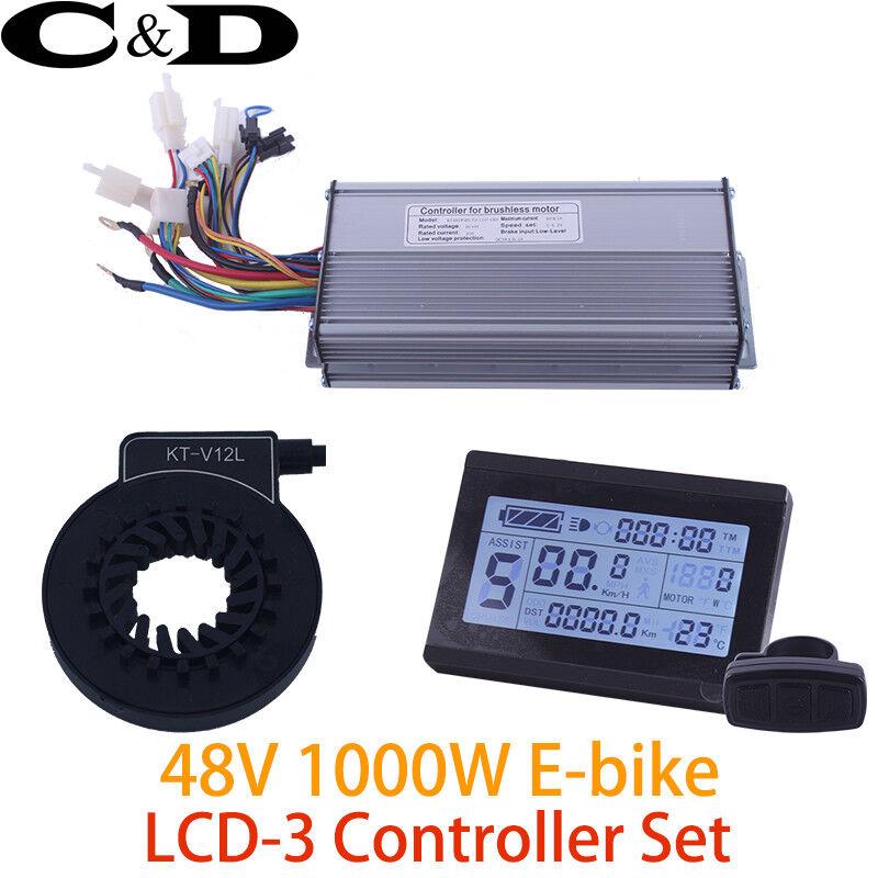 48V 1000W 40A Controller LCD LCD3 display Meter PAS Set E-bike Conversion kit