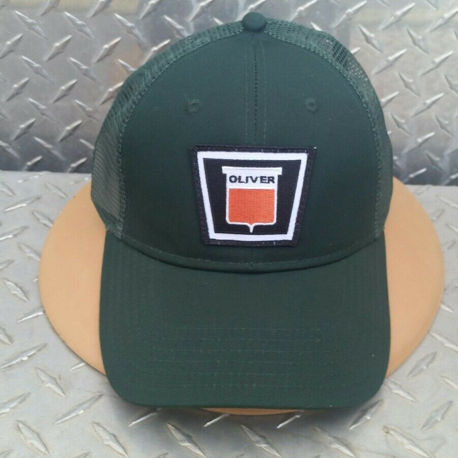 AGCO WHITE OLIVER TRACTORS TRUCKER HAT PATCH CAP BRAND NEW TWILL PATCH HAT VERY NICE b07aec