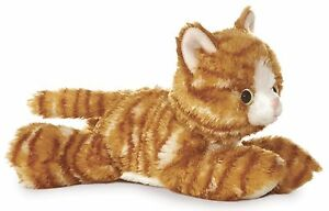 Aurora Molly Orange Tabby Cat 8 Flopsie Plush Floppy Stuffed Animal