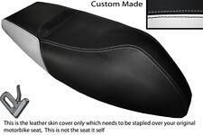 WHITE & BLACK CUSTOM FITS APRILIA AREA 51 50 DUAL LEATHER SEAT COVER