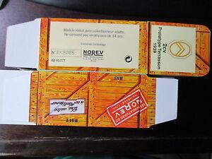 BOITE VIDE NOREV    CITROEN 2CV PROTOTYPE TERRASSON 1939 EMPTY BOX CAJA VACCIA