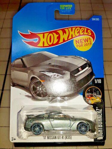 2017 Hot Wheels Nissan Skyline GTR R35 Silver HW Nightburnerz 1//10