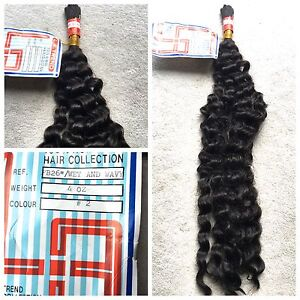 100% HUMAN HAIR FRENCH BULK -  LA TREND 12,16,18,20,22,24,26 Inches WET and WAVY