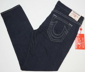 NWT-119-True-Religion-Geno-Relaxed-Slim-Jeans-Mens-Size-42-Dark-Blue-NEW