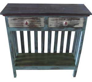 kommode 2 schubladen regal shabby recyclingholz m bel bunt. Black Bedroom Furniture Sets. Home Design Ideas