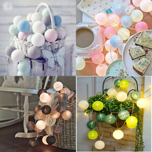 3m-20-LED-Colorful-Fairy-String-Lights-Cotton-Ball-Xmas-Wedding-Party-Decor-Lamp