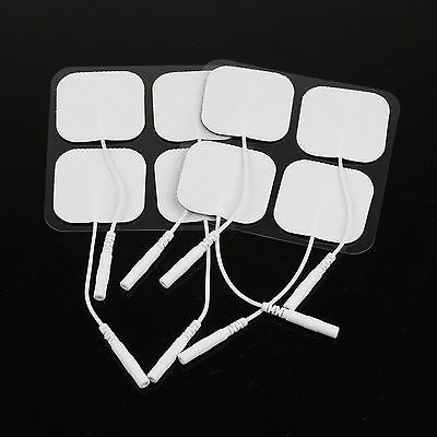 20X Safe Replacement White Electrode Pads Tens Units For All Massagers 4x4cm