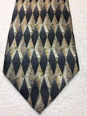 Nuova Moda Stafford Cravatta Uomo Nero Grigio Marrone E Oro 4 X 60 Così Efficacemente Come Una Fata