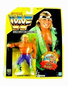 Hasbro WWF WWE Owen Hart Wrestling Figure 1993 US Yellow card Vintage FedEx 【H】