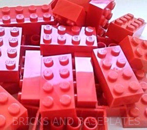LEGO Mattoni 25 X Rosso 2x4 PIN-Set da Nuovo di Zecca inviati in un sacchetto sigillato chiaro