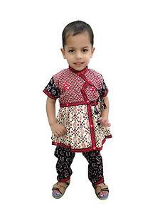 cdcc501bc517 Girl s Wear Kurta Pajama Indian Kid s Ethnic Dress 100 % Cotton ...
