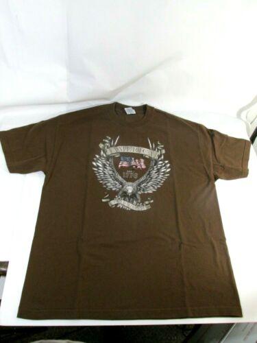 AAA Cotton t Shirt Brown Size XL