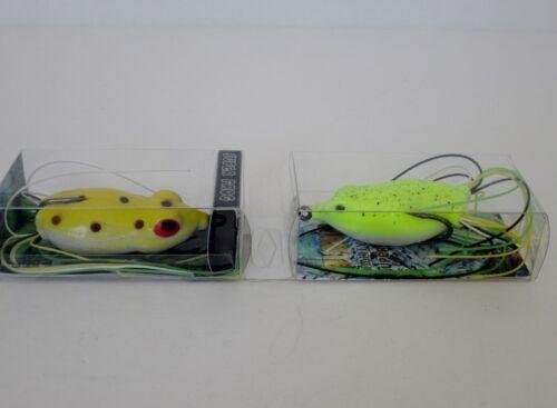 Lot 2 Pro Serries Snag Proof Big Bass Soft Top Water Super Frog ***USA SELLER***