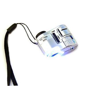 Neu-Mini-60x-Taschen-Mikroskop-Schmuck-Lupe-Glas-LED-UV-Licht-LCS