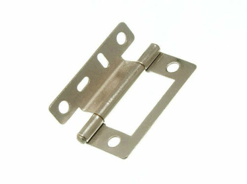 SINGLE CRANKED FLUSH HINGES 50MM X 5MM NP STEEL 11F6 50 PAIRS 100 OF