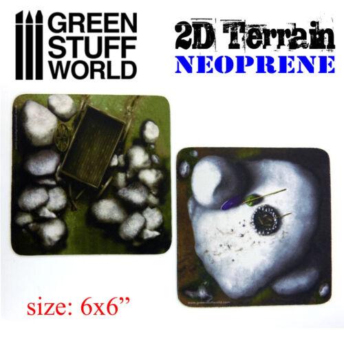 2D Neoprene Terrain set 22 pieces Warhammer 9th Age 40k