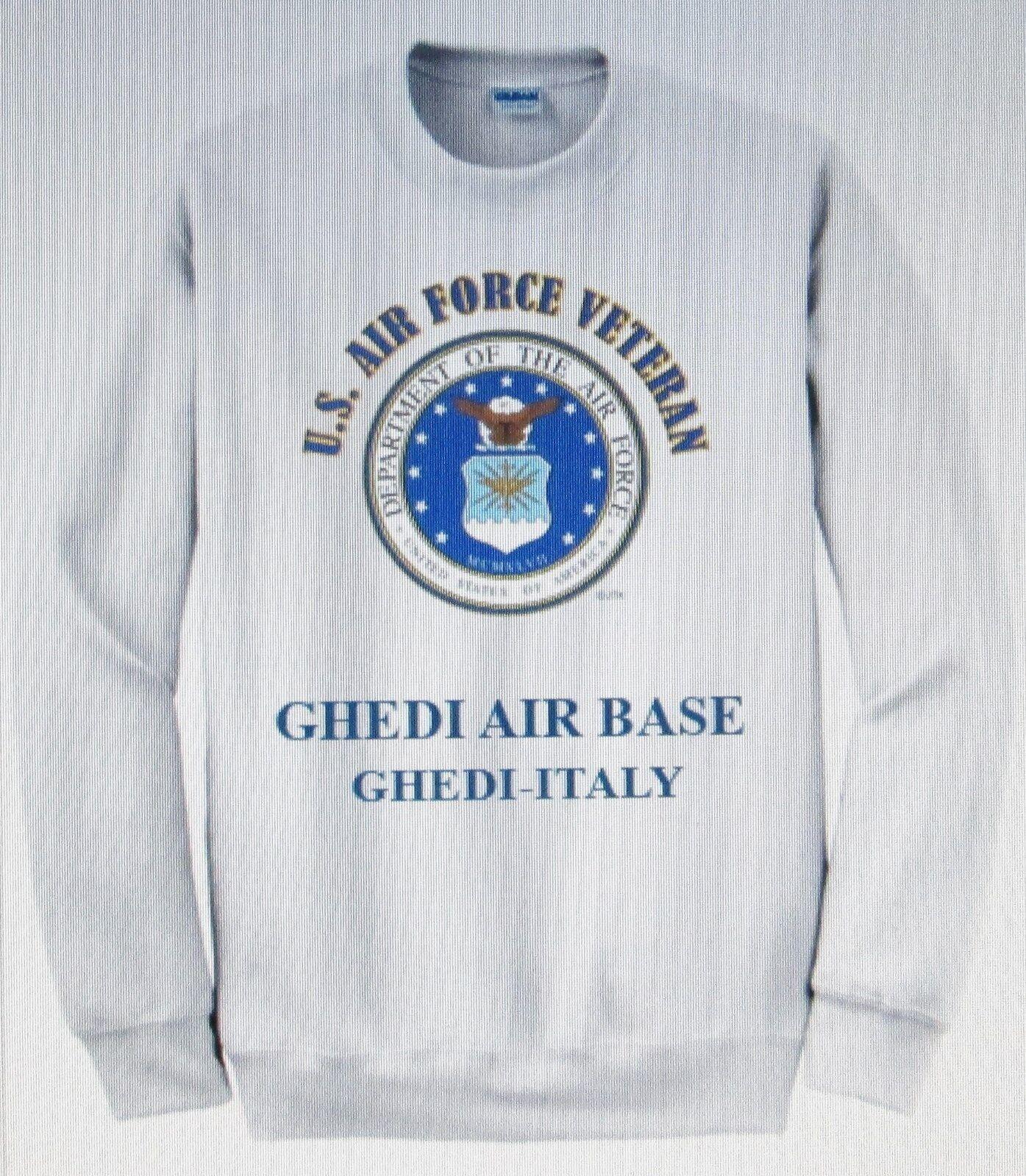 GHEDI AIR EMBLEM BASE* GHEDI-ITALY* U.S. AIR FORCE EMBLEM AIR SWEATSHIRT f602e9