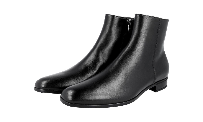 Auténtico De Lujo PRADA Half-bota zapatos 2TC038 Negro Nuevo 6,5 40,5 41