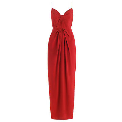 Zimmermann Silk Folded Dress in Crimson Size 3 - Brand New with Tags!