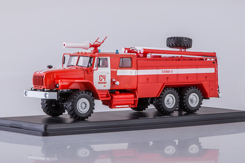 AC-7,5 russian fire truck on URAL 4320 Ivanovo  1 43 Start Scale Models SSM1229
