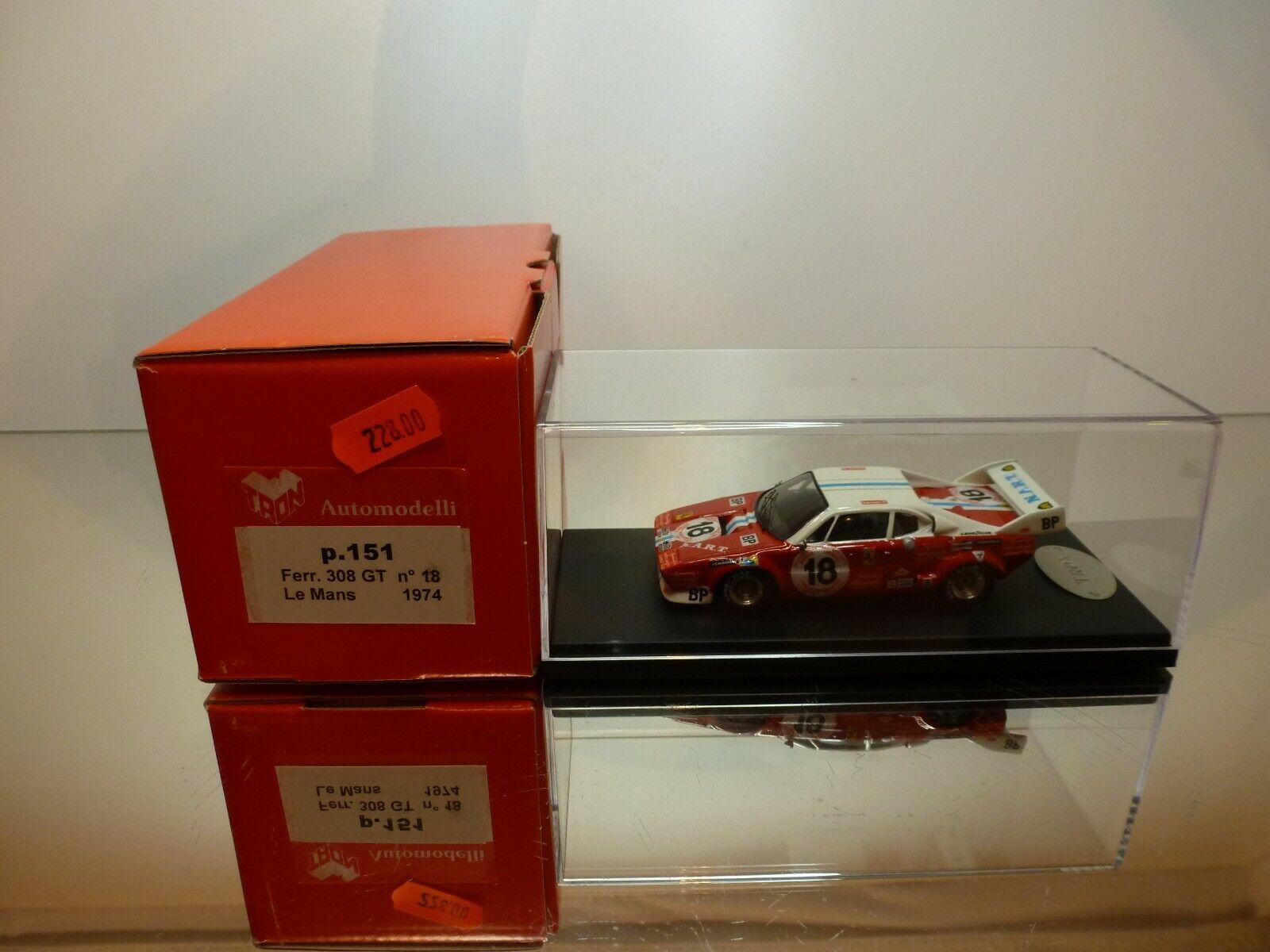 TRON P151 FERRARI DINO 308 GT4 LE MANS 1974  18 - rot 1 43 - MINT IN BOX