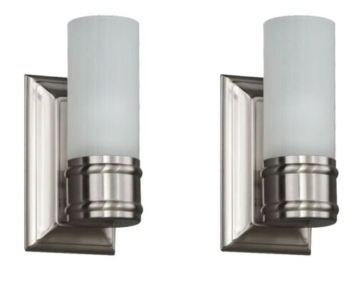 2 Pack Charenton Sconces Brushed Nickel Finish 1000 037 483 Hampton Bay