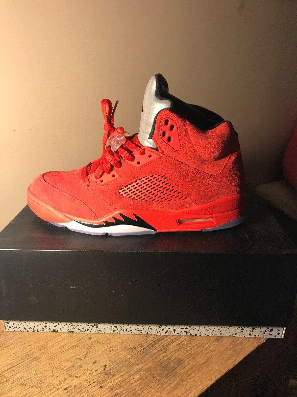Nike air v 136027 602 5 retro fluganzug 12 rot größe