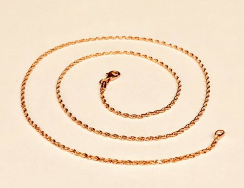 14k Solid ROSE Gold ROPE Pendant link Chain//Necklace 18 1.5 mm 3 grams