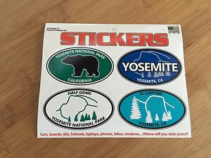 Yosemite-National-Park-oval-sticker-decal-sheet-vacation-nature-truck-SUV-laptop