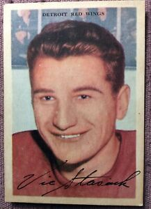 1953-54-Parkhurst-39-VIC-STASIUK-DETROIT-RED-WINGS-EX-NO-CREASES