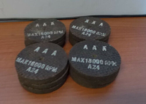 """NOS AAA MAX 1800 RPM A24 3/""""x3//8/""""  12 PIECES 1//4/"""" OPENING GRINDING WHEEL"""