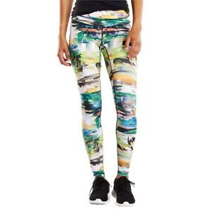 1481173a5ca69 LUCY Activewear Women's Studio Hatha Leggings Blurred Floral 2X REG ...