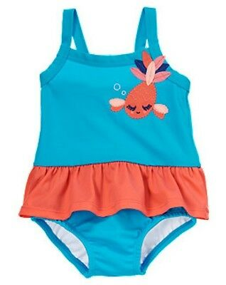 NWT Gymboree Skirted Ruffle One-Piece Swimsuit Bow at Halter Neck Swimwear 2T 5T