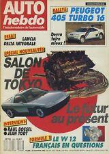 AUTO HEBDO n°599 du 12 Novembre 1987 LANCIA DELTA INTEGRALE SALON TOKYO