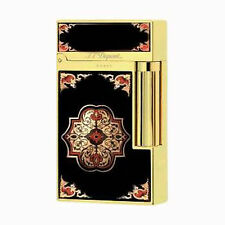 S.T. Dupont L.E. Travel In Time Ligne 2 Lighter, Yellow Gold, 16980 (016980) NIB
