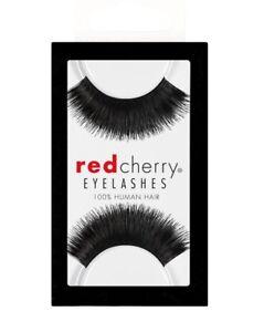 Red-Cherry-BLACKBIRD-101-falsche-schwarze-Echthaar-Wimpern-false-strip-lash