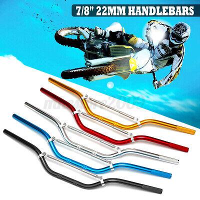 "7//8/"" 22mm Aluminum Alloy Handle Bar for Dirt Pit Bike Motocross Motorcycle"