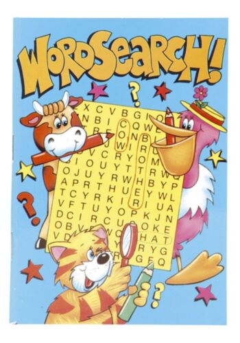 A6 Word Search Puzzle Activity Book Kids Child Fun Game Arts Crafts Party Bag