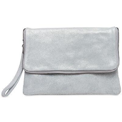 CASPAR TL769 Damen Leder Wildleder Briefumschlag Clutch Tasche Abendtasche Italy