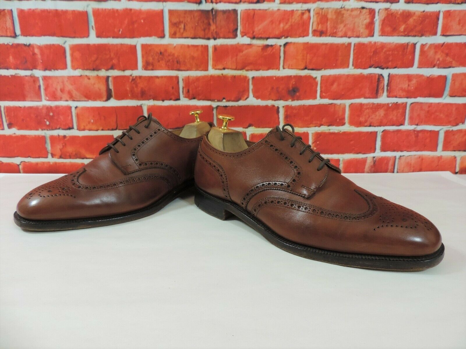 Crockett & Jones for Hackett Brogues UK 8.5 F US 9.5 EU 42.5 Tan Minor Use