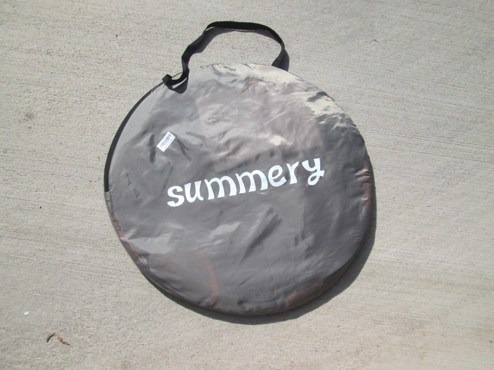 Summery POP-UP Tent Sleeps 1 Base  7'3  x 3'6  Height  3'