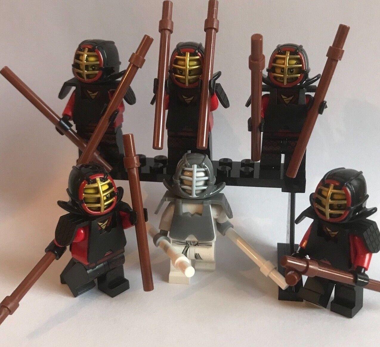 6 KENDO ninja WARRIORS - LEGO Mini Figures - The Ninjago Movie - fighters army