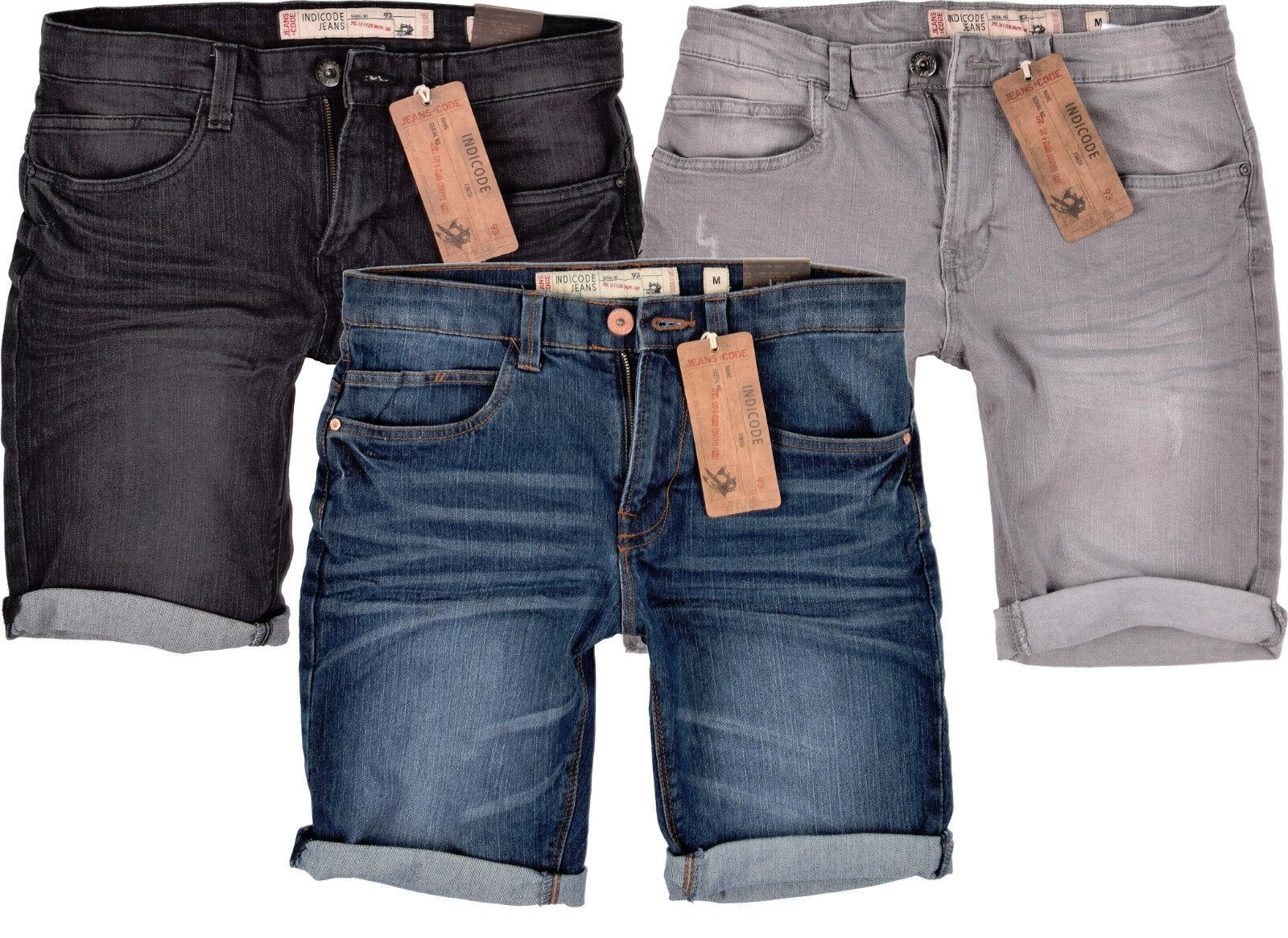 Men's Shorts indicode Jeans Shorts Slim Fit Stretch Denim Shorts Kaden