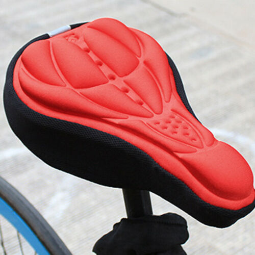 Biker Bicycle Silicone 3D Gel Saddle Seat Cover Pad Padded Soft Cushion Comfort