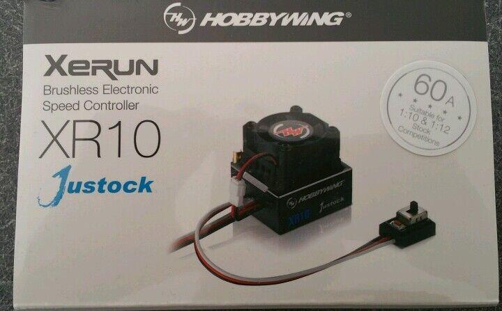 HOBBYWING XR10 60 Amp JUSTOCK Esc Sensorojo CNC caso, Producto Original Sellado