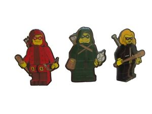 GREEN-ARROW-LITTLE-LEAGUE-LEGO-PINS-2-DC-COMICS-BLACK-CANARY-ARSENAL-CW-TV