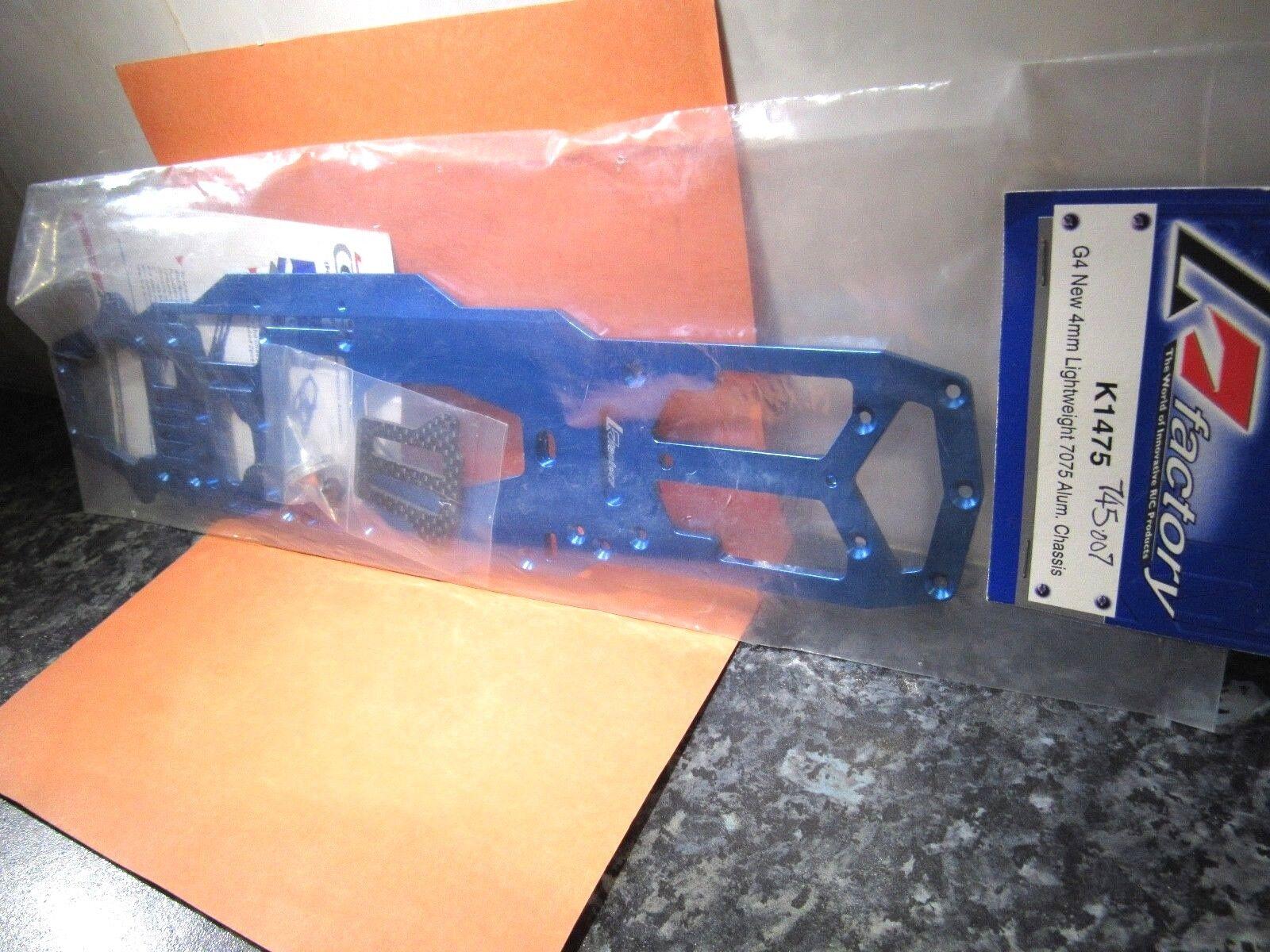 K FACTORY K1475 G4 NEW 4MM 7075 LIGHTWEIGHT ALUM CHASSIS TEAM MAGIC blueE