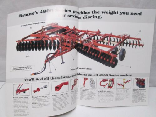 Krause Tandem Disc Harrow 3 Section 18-25 ft 4900 Series Flex Wing Brochure